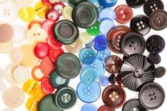 Viejo muchos botones coloreados Foto de archivo libre de regalías
