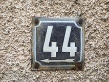 Viejo número de casa Imagen de archivo libre de regalías