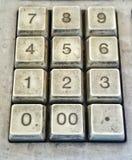 Viejo número del botón en la calculadora Imagen de archivo libre de regalías