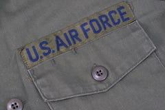 Viejo nosotros uniforme de la fuerza aérea foto de archivo