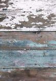 Viejo PA blanco azul natural de madera resistido de la turquesa Fotos de archivo libres de regalías
