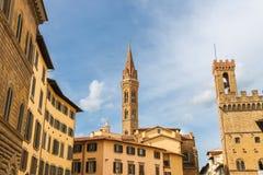 Viejo paisaje de la ciudad Florencia, Italia Imagen de archivo