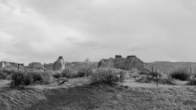 Viejo paisaje del oeste salvaje del desierto de Arizona almacen de video