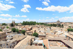 Viejo paisaje urbano de la ciudad de Toledo, España Fotografía de archivo libre de regalías