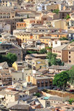 Viejo paisaje urbano de la ciudad de Toledo, España Imagen de archivo
