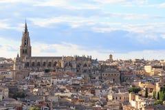 Viejo paisaje urbano de la ciudad de Toledo, España Fotografía de archivo
