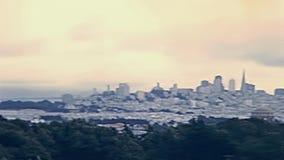 Viejo paisaje urbano de San Francisco almacen de video