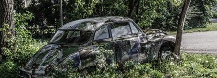 viejo panorama colorido del coche Foto de archivo