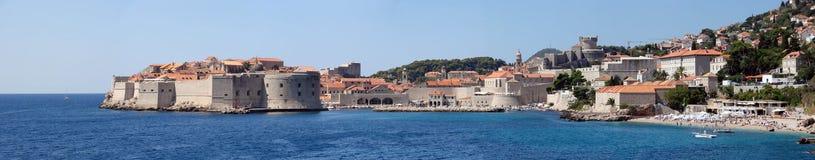 Viejo panorama de Dubrovnik Imagen de archivo