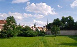 Viejo panorama de la ciudad Imágenes de archivo libres de regalías