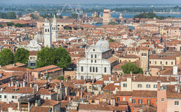 Viejo panorama del centro de ciudad de Venecia fotografía de archivo libre de regalías