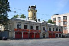 Viejo parque de bomberos Imagenes de archivo