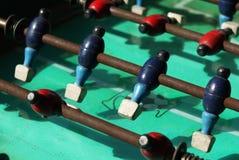Viejo partido de fútbol de madera de la tabla Imagen de archivo