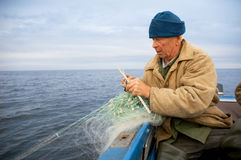 Viejo pescador Fotos de archivo