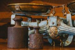 Viejo peso en la harina Fotos de archivo libres de regalías