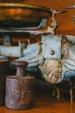 Viejo peso en la harina Imágenes de archivo libres de regalías