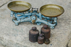 Viejo peso en la harina Fotos de archivo
