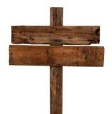 Viejo poste indicador de madera Fotos de archivo libres de regalías