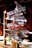 Viejo poste indicador occidental Fotografía de archivo libre de regalías