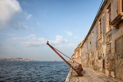 Viejo Quay en Portugal Foto de archivo libre de regalías