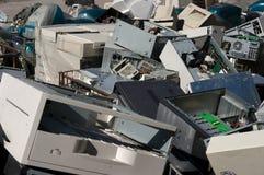 Viejo reciclaje de las PC Foto de archivo
