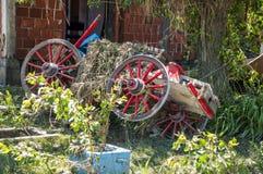 Viejo recorte de madera del carro Fotografía de archivo