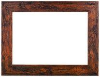 Viejo recorte del marco de madera fotos de archivo
