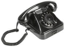 Viejo recorte negro del teléfono de la baquelita Fotos de archivo