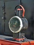 Viejo reflector de la locomotora O Fotos de archivo