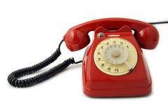 Viejo rojo del teléfono Imagen de archivo libre de regalías