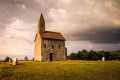 Viejo Roman Church en Drazovce, Eslovaquia Fotografía de archivo