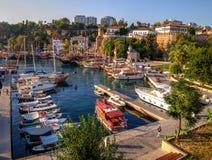 Viejo Roman Harbor, Antalya, Turquía Fotos de archivo