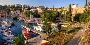Viejo Roman Harbor, Antalya, Turquía Imágenes de archivo libres de regalías