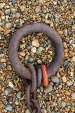 Viejo Rusty Heavy Chain Imagen de archivo libre de regalías