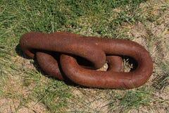 Viejo Rusty Heavy Chain Fotografía de archivo