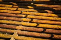 Viejo Rusty Metal Cattleguard Abstract Fotos de archivo libres de regalías