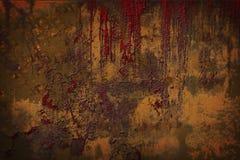 Viejo Rusty Metal Plate Fotografía de archivo