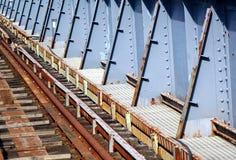 Viejo Rusty Railway Bridge Imagen de archivo libre de regalías