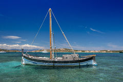 Viejo sailbaot del vintage Imagen de archivo libre de regalías