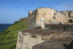 Viejo San Juan, Oud San Juan, La-perla, morro van Gr van Gr Royalty-vrije Stock Afbeeldingen