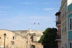 Viejo San Juan, Oud San Juan, La-perla, morro van Gr van Gr Stock Afbeeldingen