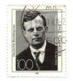Viejo sello alemán cancelado Foto de archivo libre de regalías