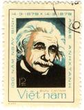 Viejo sello con Albert Einstein Imagen de archivo libre de regalías