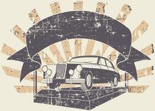 Viejo sello del coche Imagenes de archivo
