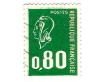Viejo sello verde del francés Imágenes de archivo libres de regalías