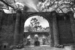 Viejo Sheldon Church Ruins Yemassee, Carolina del Sur Imagenes de archivo