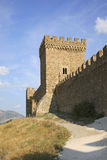 Viejo siglo Genoese de la fortaleza XI en Sudak crimea ucrania Foto de archivo