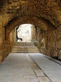 Viejo silencio de la ciudad de Akko Israel Imágenes de archivo libres de regalías