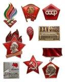 Viejo sistema comunista soviético del icono Artek VLKSM - Organi de la juventud de Lenin imagenes de archivo