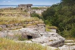 Viejo sistema concreto abandonado de las arcones Foto de archivo